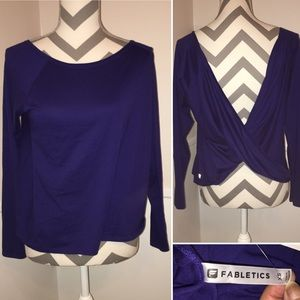 FABLETICS | NWT | criss cross low back pullover